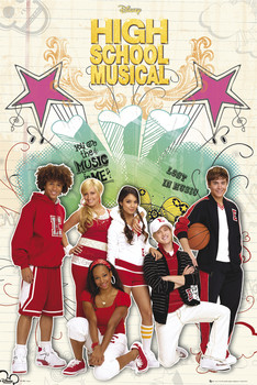 Plakát HIGH SCHOOL MUSICAL 2 - cast