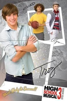 Plakát HIGH SCHOOL MUSICAL 3 - troy
