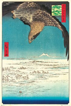 Plakát Hiroshige - Jumantsubo Plain at Fukagawa