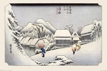 Plakát Hiroshige - Kambara