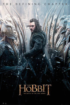 Plakat Hobbit 3: Bitwa Pięciu Armii - Luke Evans