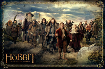 Plakat  HOBBIT - cast