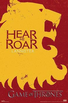 Plakát Hra o Trůny (Game of Thrones) - Lannister