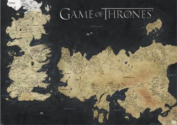 Plakát Hra o Trůny (Game of Thrones) - mapa