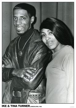 Plakát Ike and Tina Turner - London April 1968