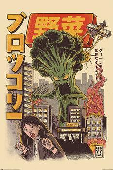 Plakat Ilustrata - Broccozilla