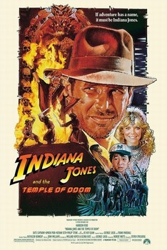 Plakát INDIANA JONES - temple of doom one sheet 2