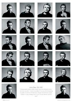 Plakát James Dean - faces