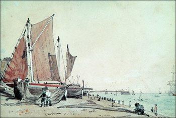 Reprodukcja John Constable - Spiaggia Di Brighton