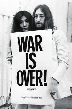 Plakát John Lennon - war is over