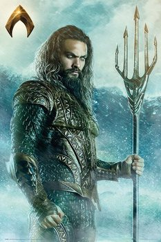 Plakát  Justice League - Aquaman Trident