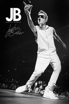 Justin Bieber (B&W) plakát, obraz