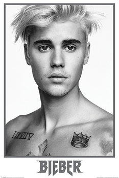 Plakát Justin Bieber - Bieber Black and White