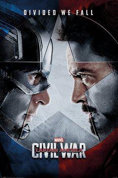Plakat Kapitan Ameryka: Wojna bohaterów - Face Off