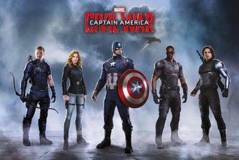 Plakat Kapitan Ameryka: Wojna bohaterów - Team Captain America