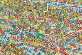 Plakát Kde je Wally? - Jurassic Games