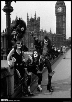 Plakat Kiss - London, May 1976