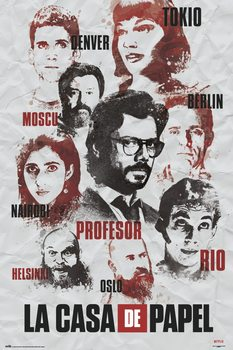 Plakat La Casa De Papel - Characters