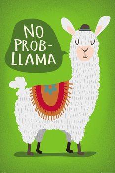 Plakát Lama - No Probllama