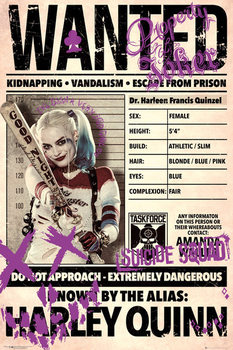 Plakat Legion samobójców - Harley Wanted