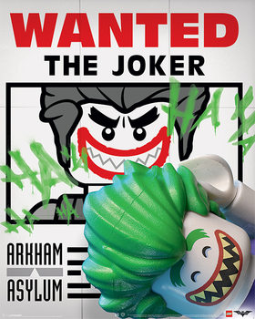Plakát Lego® Batman - Wanted The Joker