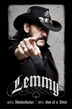Plakát Lemmy - 49% mofo