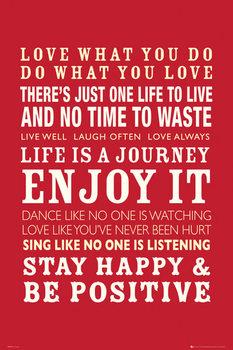 Plakat Life - Quotes