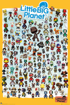 Plakát Little Big Planet 3 - Characters