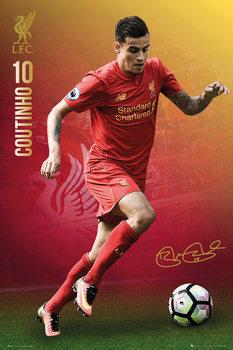 Plakat Liverpool - Coutinho 16/17