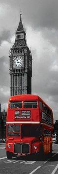 Plakát Londýn - červený autobus