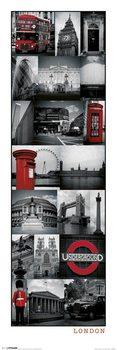Londýn - Collage plakát, obraz