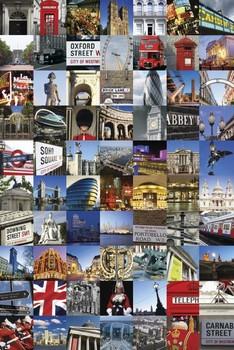 Plakat Londyn - collage