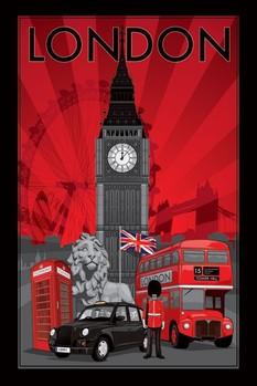 Plakat Londyn Decoscape