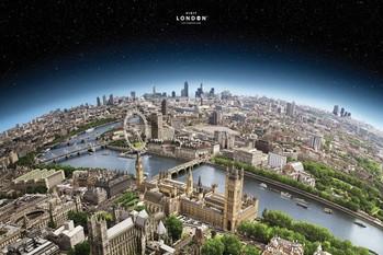 Plakat Londyn - globe