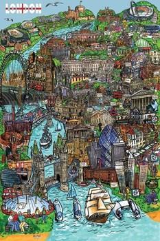 Plakat Londyn - sketch