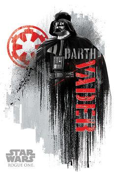Plakat Lotr 1. Gwiezdne wojny: historie - Darth Vader Grunge