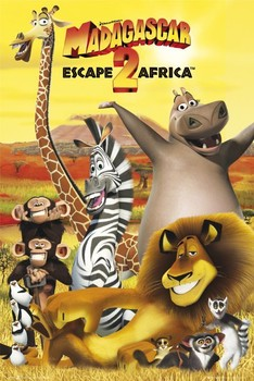 Plakát MADAGASCAR 2 - obsazení