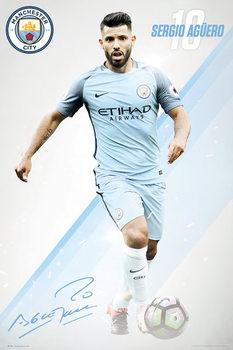 Plakat Manchester City - Aguero 16/17