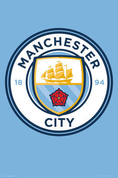 Plakát Manchester City - Crest 15/16