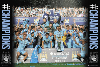 Plakát Manchester City - premiership winners 11/12