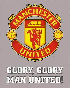 Plakat Manchester United - club crest