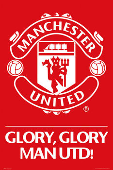 Plakát Manchester United - crest