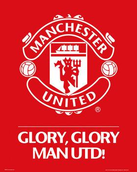 Plakat Manchester United FC - Club crest