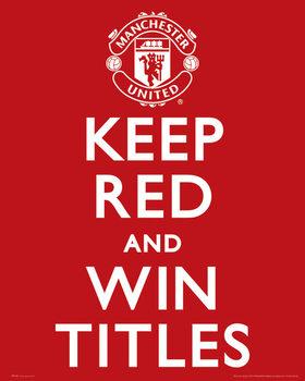 Plakát Manchester United FC - Keep Red