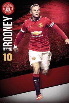 Plakát Manchester United FC - Rooney 14/15