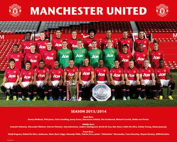 Plakát Manchester United FC - Team Photo 13/14