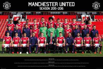 Plakát Manchester United FC - Team Photo 15/16