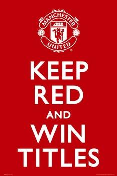 Plakát Manchester United - keep red