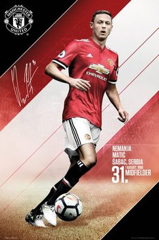 Plakat  Manchester United - Matic 17/18