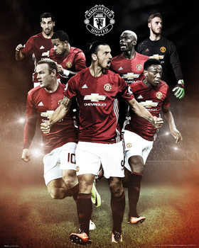 Plakat Manchester United - Players 16/17